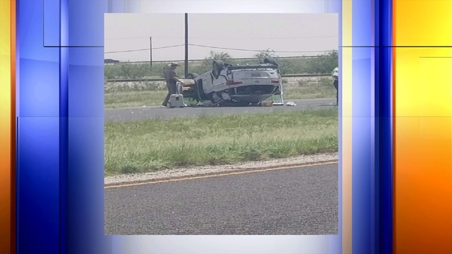 Rollover Accident on West Highway 80 Eastbound / NW Loop 338 Northbound