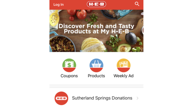 H-E-B app provides option to donate to Sutherland Springs