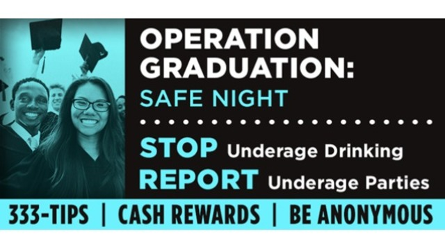 Local Law Enforcement to increase patrols on graduation night