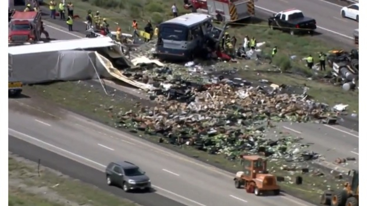 Multiple killed in bus crash involving semi on New Mexico